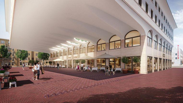 Bij het Proeflokaal komen ook twee grote terassen Beeld Amsterdams Proeflokaal