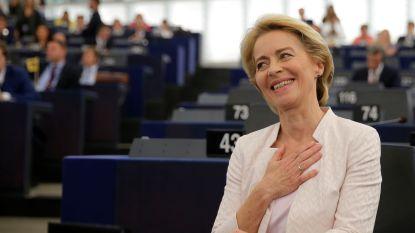Duitse Ursula von der Leyen nipt tot eerste vrouwelijke Europese Commissievoorzitter ooit verkozen
