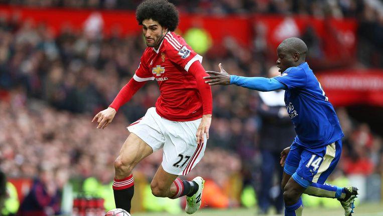 Manchester United hield de gedoodverfde kampioen Leicester City op 1-1. Beeld null