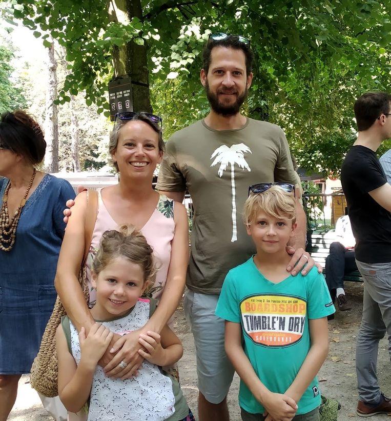 Sara en Willem kwamen speciaal met de kinderen naar Brussel.