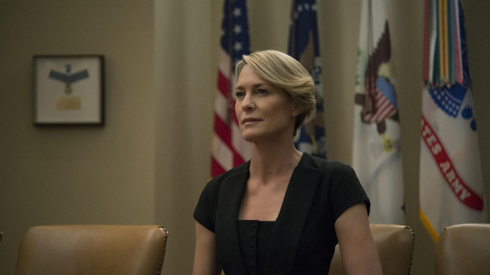 Robin Wright as Claire Underwood in seizoen 4 van House of Cards.