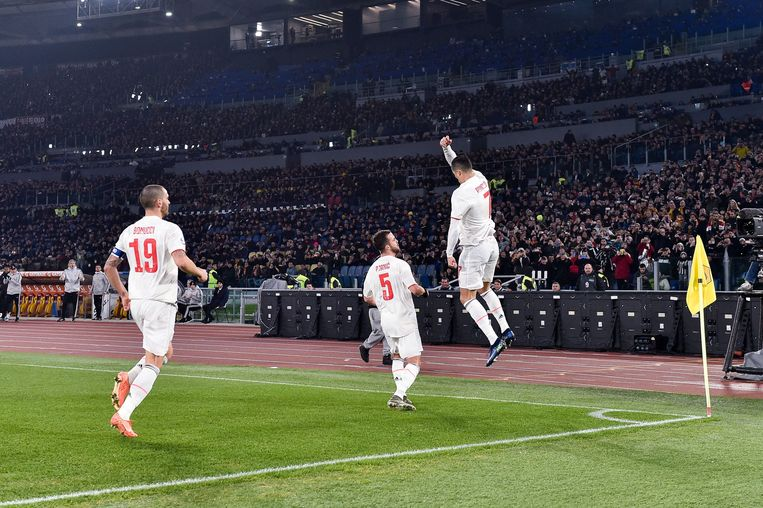 Cristiano aan het feest in Rome.