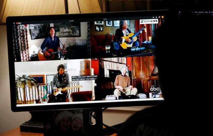 Het optreden van The Rolling Stones