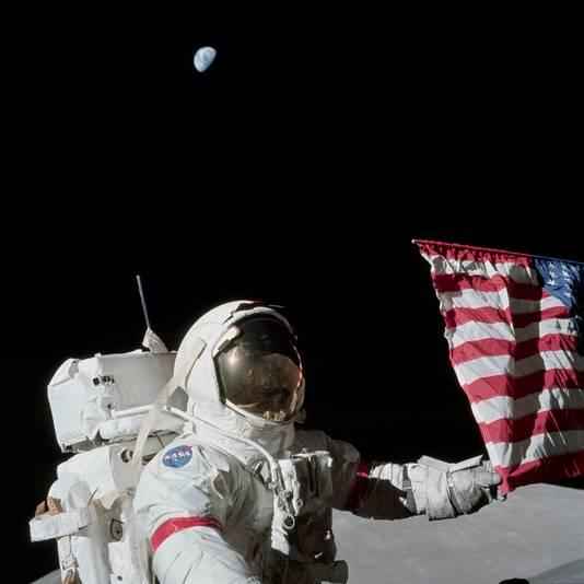 L'astronaute Eugene Cernan sur la Lune lors de la mission Apollo 17