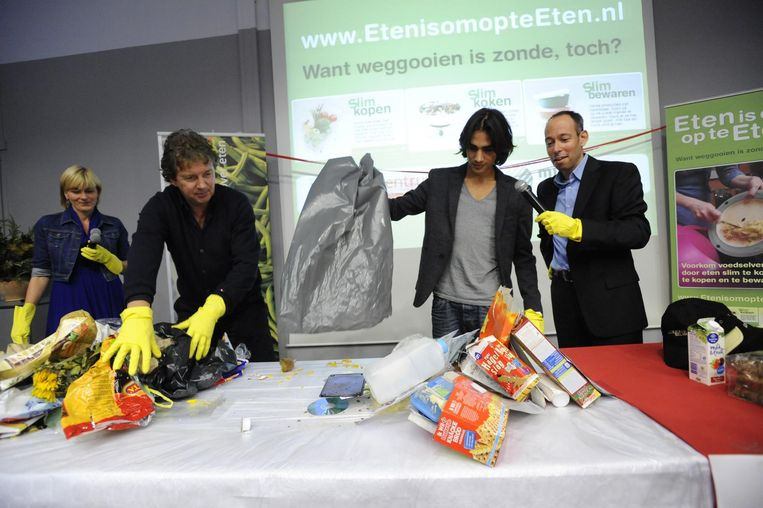 Campagne tegen voedselverspilling. Beeld null