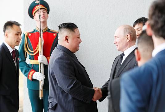Het is de eerste keer dat beide leiders elkaar persoonlijk ontmoeten.