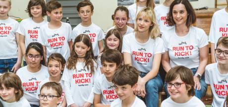 Angèle enfile ses baskets au service des enfants atteints d'un cancer