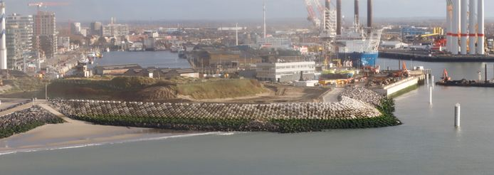 De havengeul ziet er nu zo uit in Oostende.