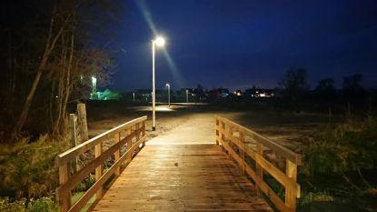 Nieuwe ledverlichting langs Millebeekpad