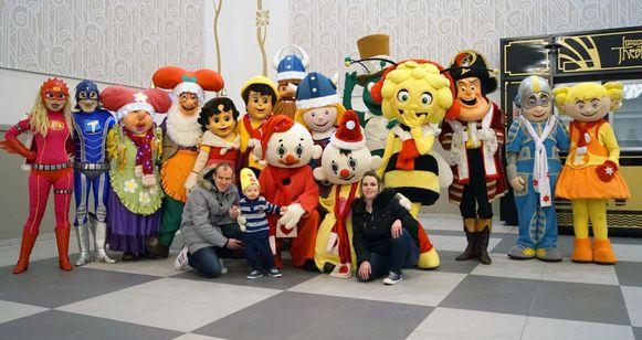 Er waren heel wat Studio 100 figuren aanwezig op de 'meet & greet'.