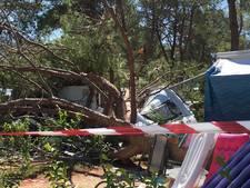 Noodweer treft Twents gezin: 'Bomen knakten als luciferhoutjes om op camping'