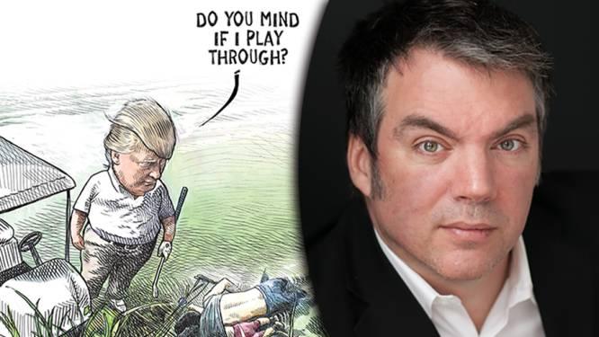 Scherpe tekening over Trump gaat viraal, contract cartoonist opgezegd