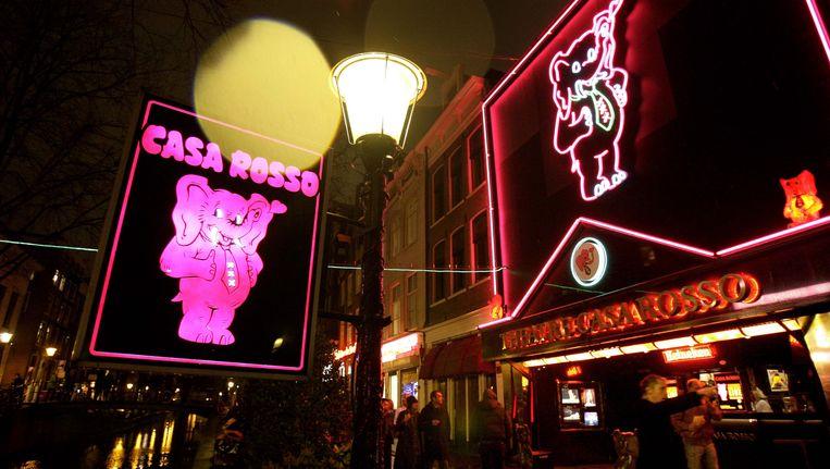 Het Amsterdamse sekstheater Casa Rosso op de Wallen. Beeld ANP