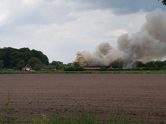 De brand woedde al erg hevig toen die werd opgemerkt.