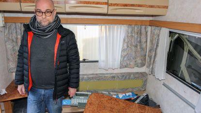 """Grote ravage aangericht in caravan: """"We zijn er nog niet eens mee op vakantie kunnen gaan"""""""