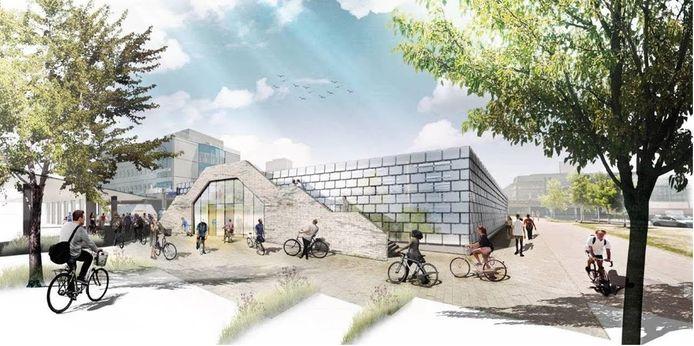 Voorlopig ontwerp fietsenstalling Neckerspoel