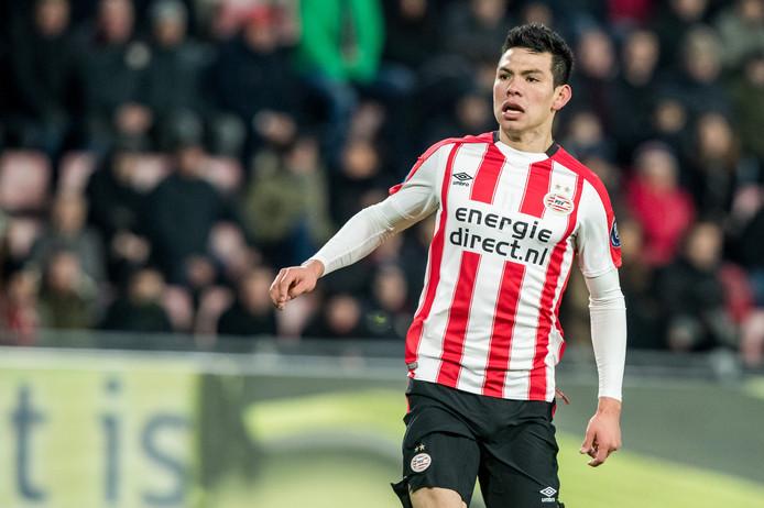 EINDHOVEN - PSV - VVV Venlo , Voetbal , Seizoen 2017/2018 , Eredivisie , Philips Stadion , 17-03-2018 , eindstand 3-0 , PSV speler Hirving Lozano