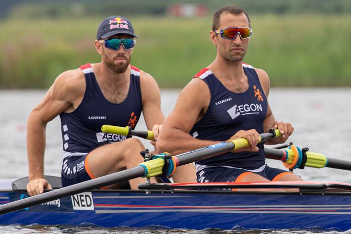 Ruben Knab (rechts) gaat met de Holland Acht op jacht naar eeuwige roem op de Olympische Spelen in Tokio.