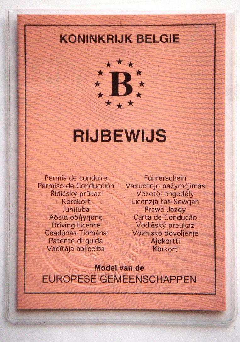 Belgisch rijbewijs uit de oude doos.