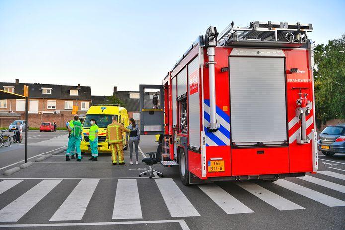 De brandweer en ambulances rukten uit.