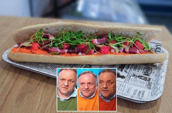 Het Marc Van Ranst-broodje is al even kleurrijk als de truien van 's lands bekendste viroloog.