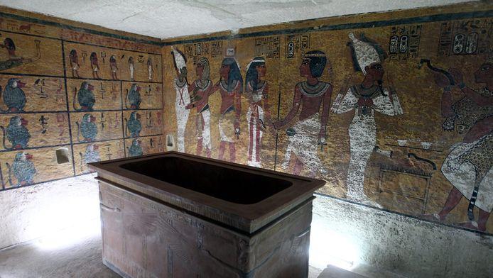 Een replica van de tombe van Toetanchamon in Caïro.