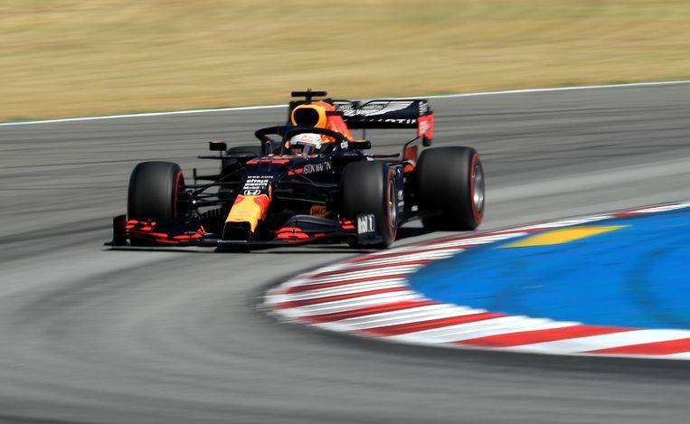 Max Verstappen in zijn bolide van Red Bull. Beeld EPA