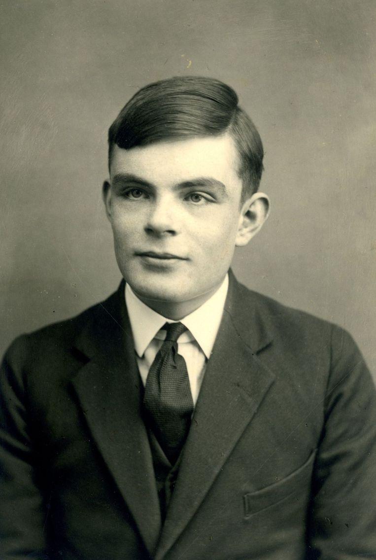 Alan Turing als 16-jarige in 1928. Beeld afp