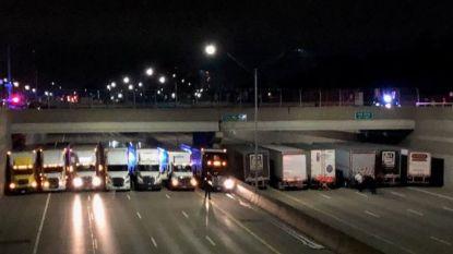 Man wil van brug springen. Politie schakelt truckers in om zijn leven te redden