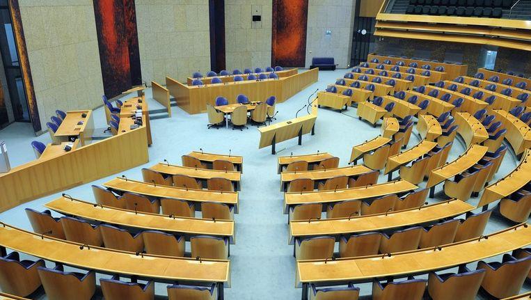 Plenaire zaal van de Tweede Kamer. Beeld ANP