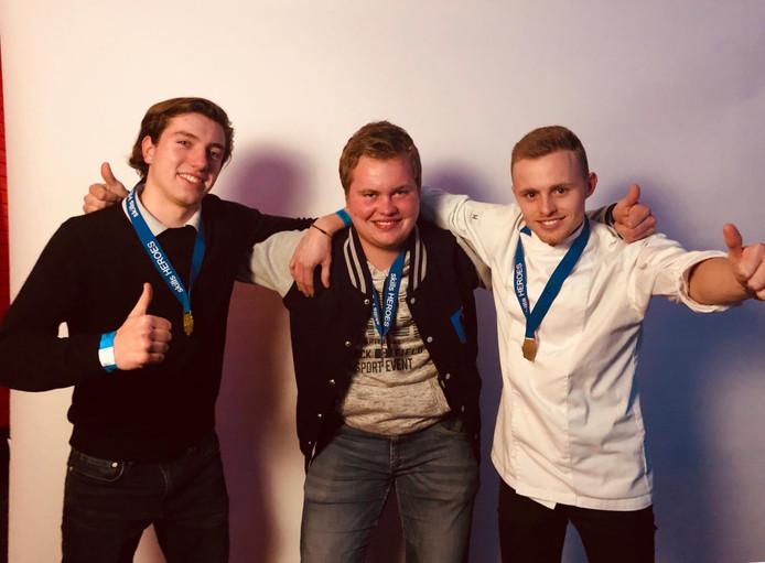Ole Bekker, Maurice Borgerink en Coert Boschloo (van links naar rechts).
