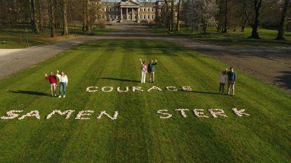Ook de koning en zijn gezin doen mee aan De Ronde tegen Corona: bekijk hun drone-video
