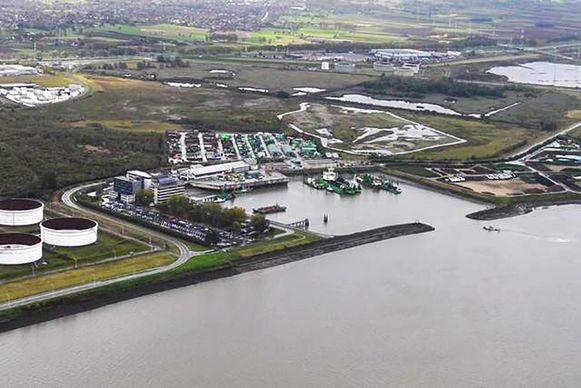 De DEME-haven waar de waterbus binnenkort een ligplaats krijgt.