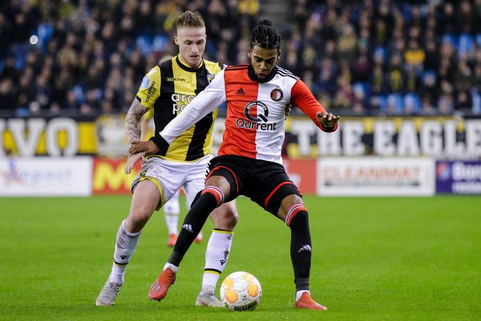 Jeremiah St. Juste in actie tegen Vitesse afgelopen zondag.