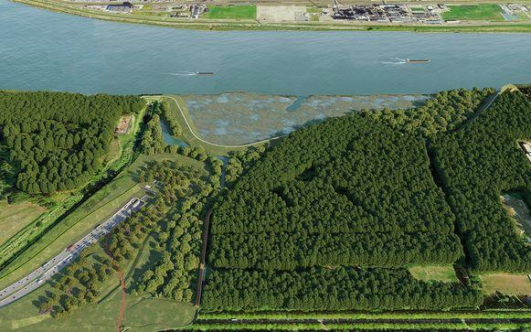 De nieuwe Scheldetunnel zal aangelegd worden tussen het Sint-Annabos en Blokkersdijk.