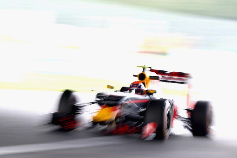 Verstappen op het circuit van Suzuka. Beeld getty