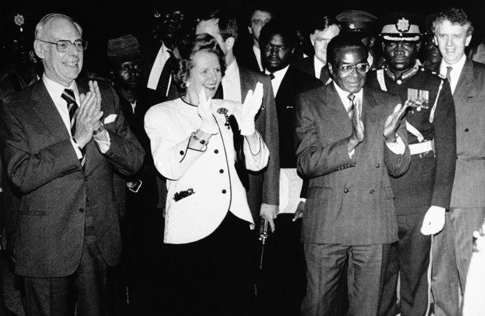 Met toenmalig Brits premier Margaret Thatcher en haar man Dennis in 1981.