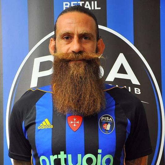 Davide Moscardelli in het shirt van Pisa.