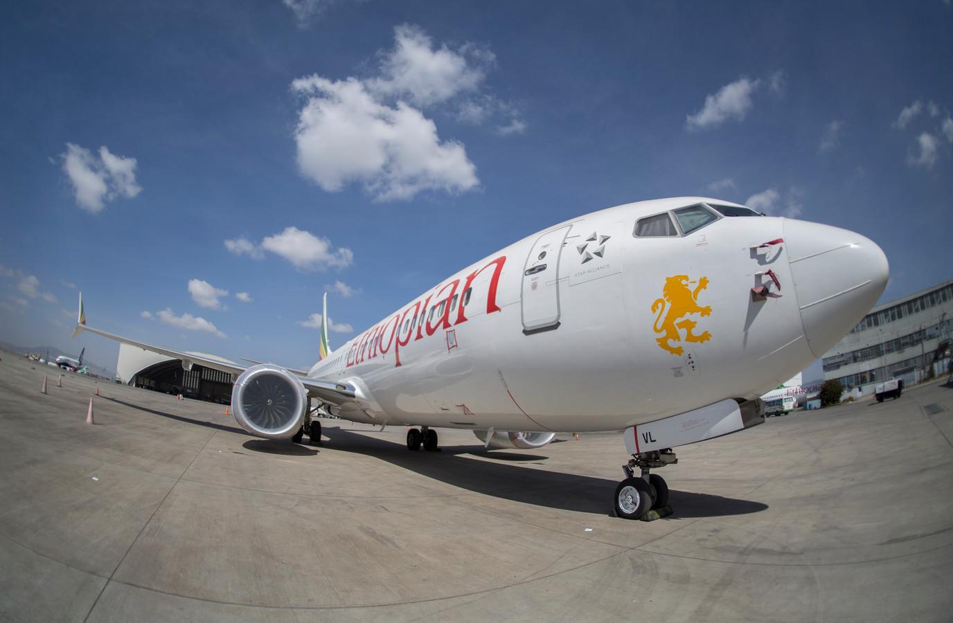 Een Boeing 737 Max 8 van Ethiopian Airlines