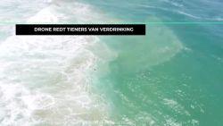 Primeur in Australië: Drone redt tieners van verdrinking