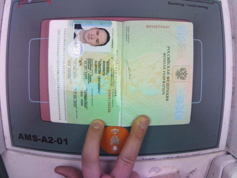 Het paspoort van een van de Russische agenten van de GROe. Beeld Ministerie van Defensie