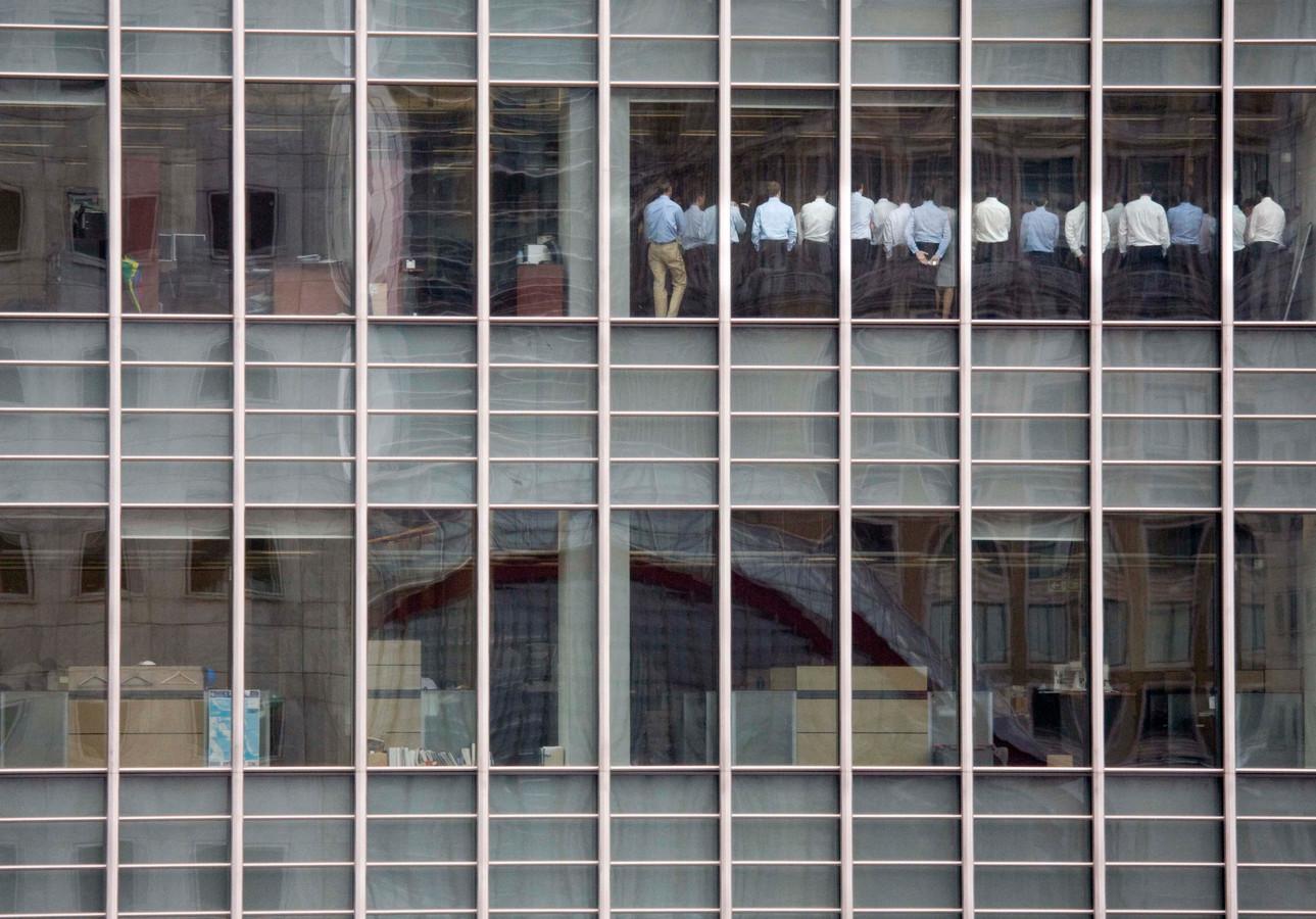 Lehman Brothers in Londen in 2008.
