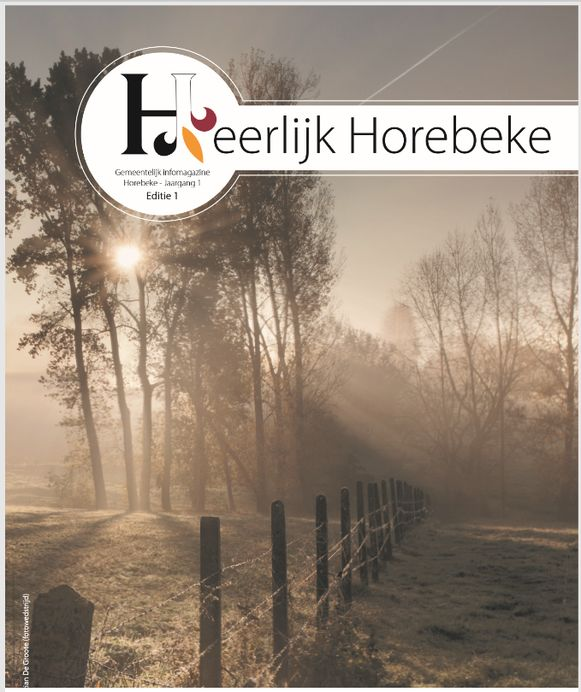 De eerste editie van (H)eerlijk Horebeke zit in de brievenbussen.