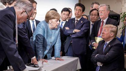 """""""Als een renaissance-schilderij': is de foto van Merkel en Trump nu al hét nieuwsbeeld van het jaar?"""
