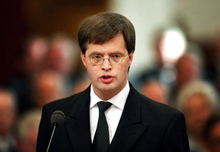 Premier Balkenende in 2002.  Beeld null