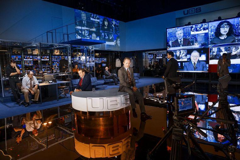 Network in Lyttelton Theatre, Londen. Beeld Jan Versweyveld