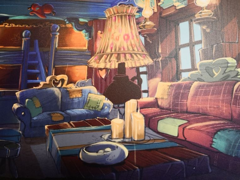 De kamer van kabouter Plop.