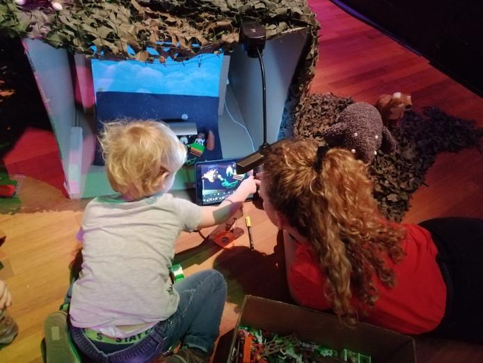 Tijdens kinderfilmfestival Cinekid konden kinderen vorig jaar een animatiefilm maken.
