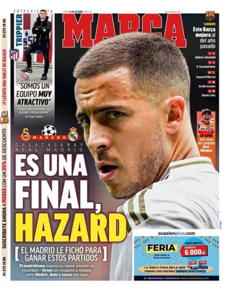 De frontpagina van Marca vandaag.