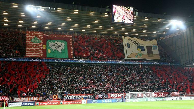 FC Twente fans voor het Champions League-duel tegen Werder Bremen. Beeld